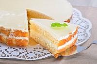 Fancy cake with yogurt
