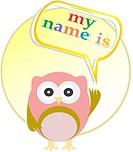Cute vector owl _ my name is