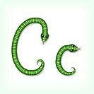 Snake font. Letter C