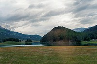 Meadows, lakes and mountains