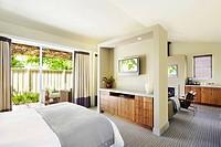 Interior of elegant bedroom