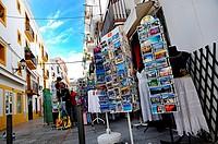 Souvenirs shop in La Marina neighborhood  Ibiza town, Balearic Islands, Spain