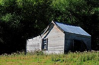 An old house abandoned in North Island of New Zealand