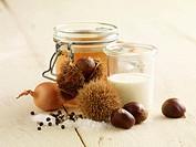 Ingredients for chestnut soup