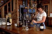 PH testing of the WINE at AHLGREN VINEYARD _ SANTA CRUZ MOUNTAINS, CALIFORNIA
