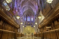 Washington, DC: October 11, 2008. The majesty and beauty of the architecture of the Washington National Cathedral is self_evident in this high dynamic...