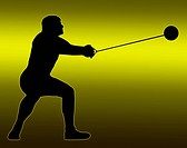 Green Gold Back Male Hammer Thrower