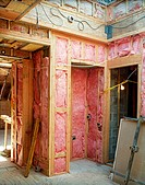 Interior of a house under construction