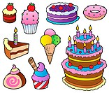 Various cakes collection 1