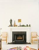Pottery Collection on Mantel in Living Room