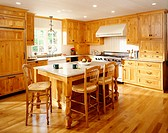 Traditional Kitchen with Wooden Cabinetry