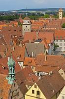 Rothenburg ob der Tauber, Romantic Road, Romantische Strasse, Franconia, Bavaria, Germany, Europe.
