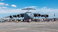 Boeing USAF C-17 Globemaster at Air Show at Homestead AFB  Florida  USA  The Boeing C-17 Globemaster III is a large military transport aircraft  It wa...