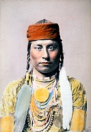 Big Medicine Man, Hand Colored Albumen Photograph, Circa 1882
