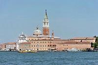 Grand Canal, San Giorgio Maggiore with Campanile, Venice, Veneto, Italy, Europe