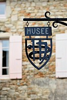 Sign of the museum of the Saint-Antoine monastery, France, Europe