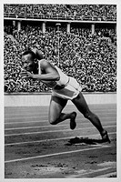 Jesse Owens, Track Star, 1936 Olympic Summer Games, Berlin, Germany