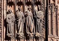 Statues ´Notre-Dame´ cathedral Strasbourg Alsace France