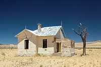 Abandoned station at Garub, on the recently rebuilt railway line between Keetmanshoop and Luderitz, Namibia.
