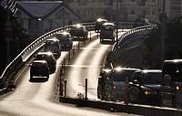 Naha, Okinawa, Japan, city traffic in Nagata