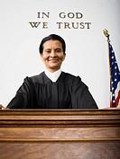 Portrait of a female judge smiling
