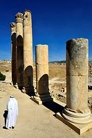 Jerash, Jordan  The upper temple of Zeus.