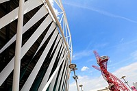 Olympic Stadium and ArcelorMittal Orbit Tower in the Olympic Park, Stratford City, London, England, United Kingdom, Europe