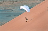 Aaron Beck Speed Flying on the Bruneau Sand Dunes at Bruneau Sand Dunes State Park in southern Idaho
