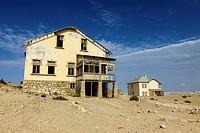 Building in Kolmanskop, ghost town near Luderitz, Namibia, Africa