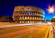 colosseum rome italy night
