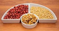 Walnuts, peanut and pine nut