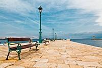 Pier in Mediterranean Town Senj in Croatia