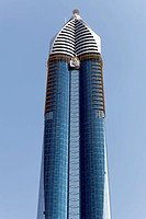 Skyscraper with a glass facade, Rose Rayhaan Hotel, Sheikh Zayed Road, Dubai, United Arab Emirates, Middle East, Asia