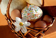 Easter cake in a basket