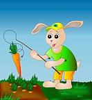 Rabbit fishing carrot