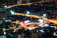 Bangkok aerial view Cityscape