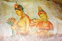 Ancient rock painting art