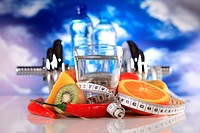 fitness water and food