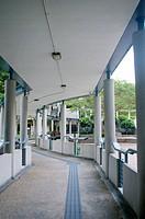 Modern walkway in school