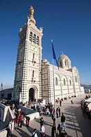 notre dame de la garde, basilica, marsiglia, provenza, francia, europa