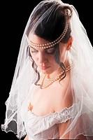 Lovely sensual bride in lingerie
