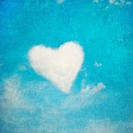 heart shaped cloud, perfect valentine´s day background