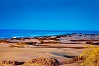 Sand dunes of Maspalomas, Gran Canaria, Canary Islands, Spain