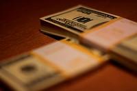 Stacks of Hundred Dollar Bills