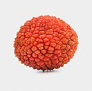 Lychee litchi chinensis on a white background