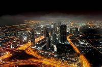 View from Burj Khalifa at downtown Dubai, United Arab Emirates
