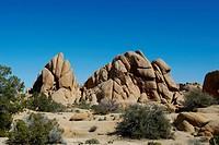Joshua Tree National Park rock formations, California