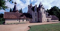 View of the Castle of Troussay, Cheverney. France, 15th-19th century.