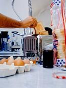 Man preparing breakfast