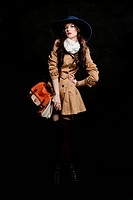 Fashion woman on dark background